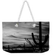 Black And White Night In Arizona Weekender Tote Bag