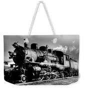 Black And White Of An Old Steam Engine  Weekender Tote Bag