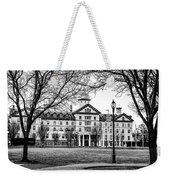 Black And White - Old Main - Widener University Weekender Tote Bag