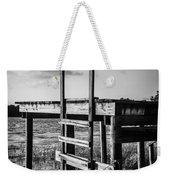 Black And White Old Time Dock Weekender Tote Bag