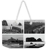 Black And White Olympic National Park Collage Weekender Tote Bag