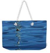 Black And White On Blue Weekender Tote Bag