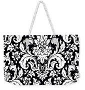 Black And White Paisley Pattern Vintage Weekender Tote Bag