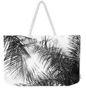 Black And White Palm Trees Weekender Tote Bag
