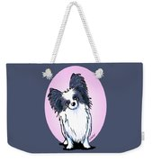 Black And White Papillon Weekender Tote Bag
