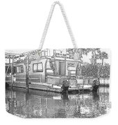 Black And White Party Boat Weekender Tote Bag