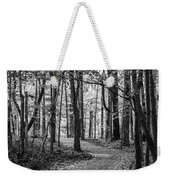 Black And White Path In Autumn  Weekender Tote Bag