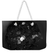 Black And White Pennies Weekender Tote Bag