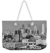 Black And White Philadelphia - Delaware River Weekender Tote Bag