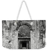 Black And White Photograph Beaufort Historic Church - Chapel Of The Ease Weekender Tote Bag