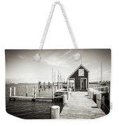 Black And White Photography - Martha's Vineyard - Black Dog Wharf Weekender Tote Bag