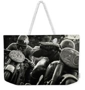 Black And White Photography - Motorcyclists Weekender Tote Bag