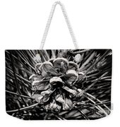 Black And White Pine Cone Wall Art Weekender Tote Bag