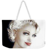 Black And White Red Lips Weekender Tote Bag