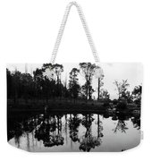 Black And White Reflected Weekender Tote Bag
