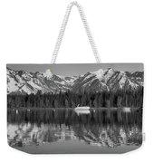 Black And White Reflection On Jackson Lake Wyoming Weekender Tote Bag