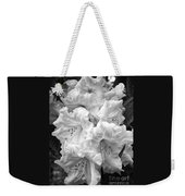 Black And White Rhododendron Weekender Tote Bag