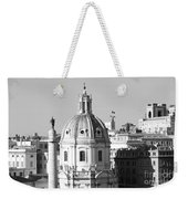 Black And White Rooftop In Rome Weekender Tote Bag