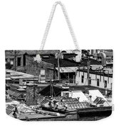 Black And White Rooftops Weekender Tote Bag