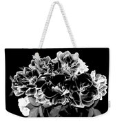 Black And White Roses Weekender Tote Bag
