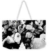 Black And White Seashells Weekender Tote Bag