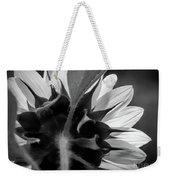Black And White Sinflower 6 Weekender Tote Bag