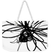 Black And White Sketch Flower 4- Art By Linda Woods Weekender Tote Bag