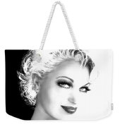 Black And White Smile Weekender Tote Bag