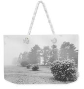 Black And White Snow Landscape Weekender Tote Bag