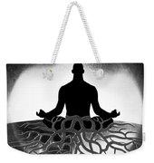 Black And White Spiritual Grounding Weekender Tote Bag