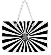 Black And White Starburst Weekender Tote Bag