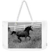 Black And White Steed Weekender Tote Bag