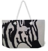Black And White Stripes Weekender Tote Bag