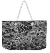 Black And White Sun Flowers  Weekender Tote Bag
