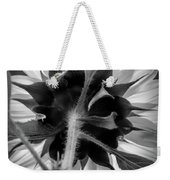Black And White Sunflower 5 Weekender Tote Bag