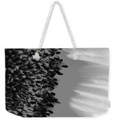 Black And White Sunflower Weekender Tote Bag