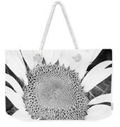 Black And White Sunflower Face Weekender Tote Bag