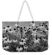 Black And White Susans Weekender Tote Bag