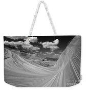 Black And White Swirling Landscape Weekender Tote Bag