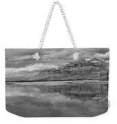Black And White Talbot Lake Sunset Weekender Tote Bag
