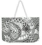 Black And White Tangle Art Weekender Tote Bag