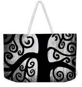 Black And White Tree Weekender Tote Bag