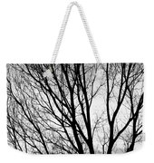 Black And White Tree Branches Silhouette Weekender Tote Bag