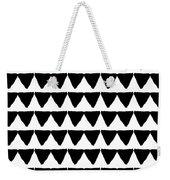 Black And White Triangles- Art By Linda Woods Weekender Tote Bag