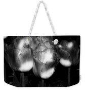 Black And White Tulips Weekender Tote Bag
