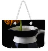 Black And White Vase With Daisy Weekender Tote Bag
