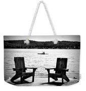 Black And White View Weekender Tote Bag