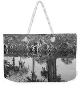 Black And White Water Reflections Weekender Tote Bag