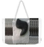 Black And White Yod Weekender Tote Bag