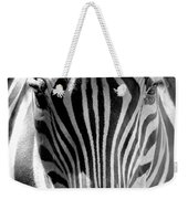 Black And White Zebra  Weekender Tote Bag